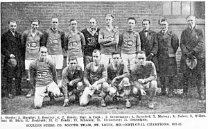 St. Louis Scullin Steel F.C. - The team that won the 1922 Open Cup.