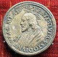 Scuola romana, medaglia della sede vacante 1550, con camarlingo ascanio sforza.JPG