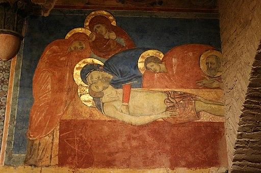 Sepoltura, Scuola senese, compianto, 1280 circa