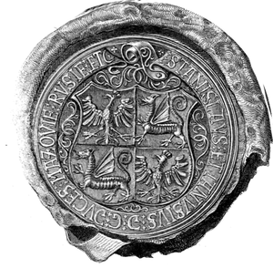 Janusz III of Masovia - Joint Seal of Stanisław and Janusz III.