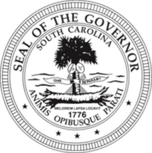 Governor of South Carolina - Image: Seal of the Governor of South Carolina