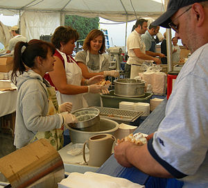 St. Demetrios Greek Orthodox Church (Seattle) - Cooking calamari during the Greek Festival, 2006.