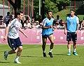 Sebastian Rudy Thiago James Training 2018-05-08 FC Bayern Muenchen-1.jpg
