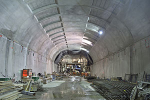 Second Avenue Subway - Ceiling of the 86th Street station in December 2013