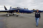 Secretary Kerry Walks Away From F-A-18 Fighter Jets Used by the Blue Angels, the U.S. Navy's Flight Demonstration Team (28578912386).jpg