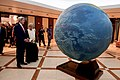 Secretary Kerry and Omani Foreign Minister Yusuf bin Alawi Look at a Rotating Globe After he and Secretary Arrived at the Ministry of Foreign Affairs in Muscat (22798779668).jpg