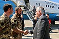 Secretary Tillerson Shakes Hands With Italian Armed Forces Members Before Departing Pisa (33816026682).jpg
