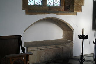 Easter Sepulchre - A simple unadorned example from St Marys Church, Grendon, Northants