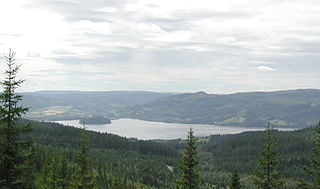 Selbusjø lake in Trøndelag, Norway
