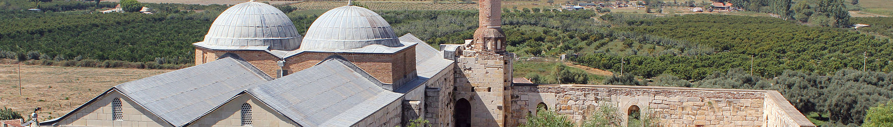 The 14th century İsa Bey Mosque, overlooking the orchards on what once was the Gulf of Ephesus, before being silted up by the Cayster/Küçükmenderes River