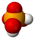 Space-filling model of selenic acid