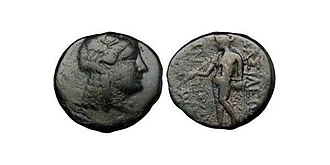 Seleucid Bronze Coin Depictinding Antiochus III with Laureate head of Apollo Circa. 200 BCE Seleucid Bronze Coin Depictinding Antiochus III with Laureate head of Apollo Circa. 200 BCE.jpg
