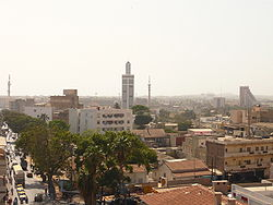 Skyline of Central Dakar