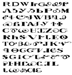 Sequoyah Arranged Syllabary