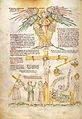 Seraphim with halo, the crucified Christ Wellcome L0029359.jpg