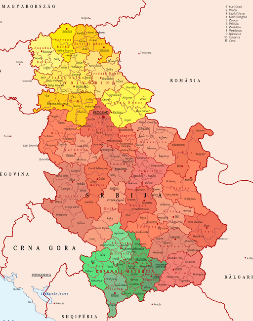 SerbiaPoliticalDivision