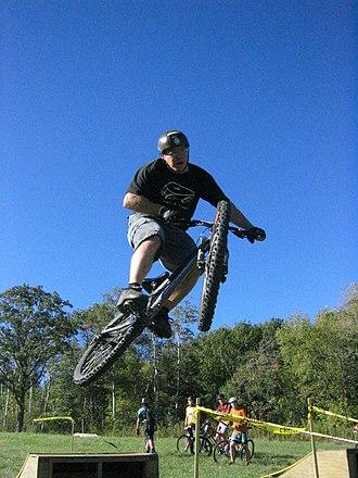 Freeride - Freeriding on a hardtail freeride bike.
