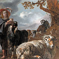 Shepherds boy with sheep and goats, by Jan Baptist Weenix and Bartholomeus van der Helst.jpg
