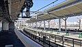 Shigino Station platform construction 2016-12-11.jpg