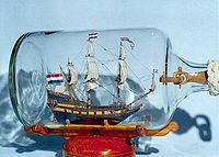 Корабль из бутылки фото