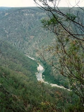 Shoalhaven River - Image: Shoalhaven River Gorge Morton National Park near Bundanoon