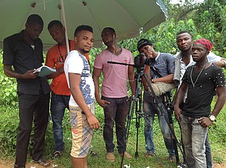 Nollywood - Image: Shooting a nollywood movie in Awka