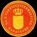 Siegelmarke Grossherzoglich Badische Garnisonsverwaltung - Karlsruhe W0227224.jpg
