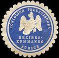 Siegelmarke K. Pr. Bezirkskommando Aurich W0285428.jpg