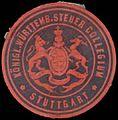 Siegelmarke K. Württemb. Steuer Collegium Stuttgart W0390460.jpg