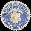Siegelmarke Stadtverwaltung Wriezen W0385342.jpg