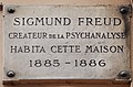 Sigmund Freud plaque - 10, rue le Goff, Paris 5.jpg