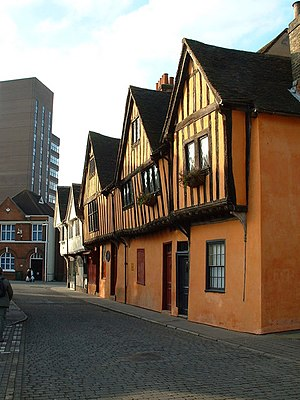 Edmund Withypoll - The supposed retinue guesthouse near the Curson residence in Ipswich