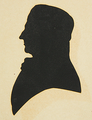 Silhouette of a Man in Left Profile byWJHubard 19thc Harvard.png