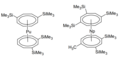 Silyl substituted COT Np and Pu complexes.png