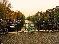 Singel-Oude Leliestraat, Amsterdam, Nederland גשר על תעלת המים סינגל באמסטרדם, הולנד - panoramio.jpg