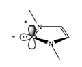Singlet N-heterocyclic carbene electronic structure.png