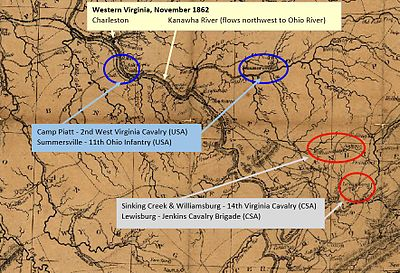 Sinking Creek Raid Wikipedia - Map of west virginia and ohio