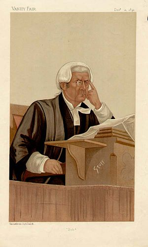 Robert Romer - Vanity Fair caricature, 1891