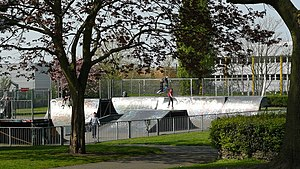 Wandle Park, Croydon - The skate park