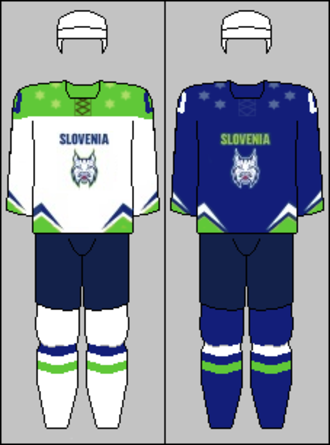Slovenia men's national ice hockey team - Image: Slovenia national hockey team jerseys 2015