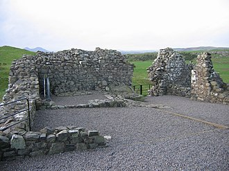 Smailholm Tower - The ruins of the west barmkin of the tower