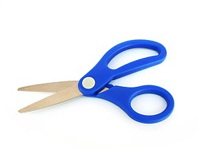 English: blue scissors Español: tijeras azules