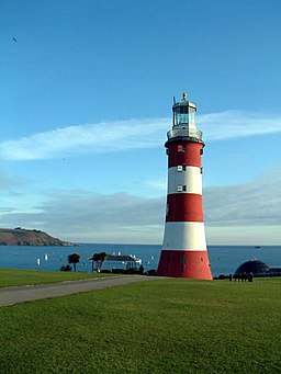 Smeatons Lighthouse on Plymouth Hoe