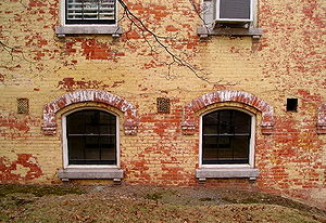 Sailors' Snug Harbor - Brickwork at Snug Harbor buildings