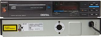 Sony CDP-101 - Front and rear views of the Sony CDP-30 CD player (produced circa 1984-1986).