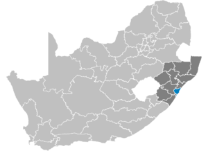 District eThekwini in Zuid-Afrika