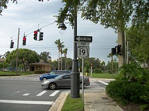 Florida State Road 19 - Southern terminus of SR 19 in Groveland