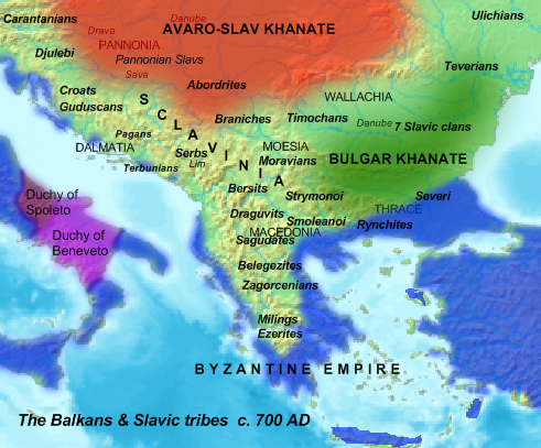 South Slavic tribes