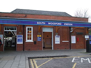 South Woodford tube station - Western entrance on George Lane