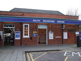 South Woodford tube station - Western entrance on George Lane
